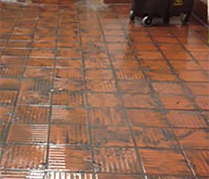 fire damaged tile before