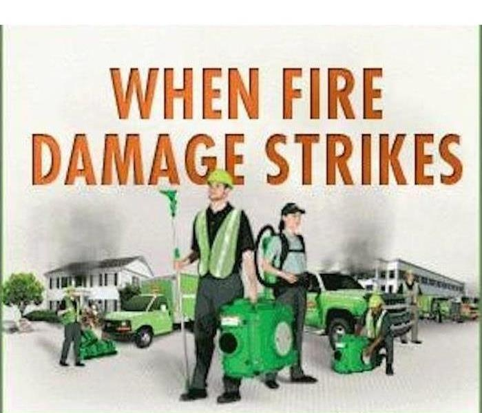 servpro fire damage cleaning crew