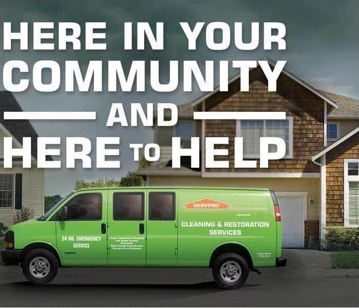 SERVPRO van in front of a house