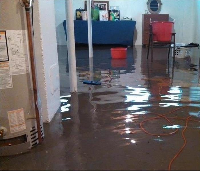 storm flooded commercial property